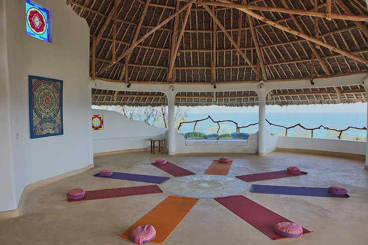 Watamu Treehouse yoga room with nature view