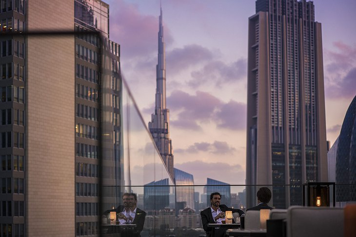 Four Seasons Dubai DIFC business meeting on the roof
