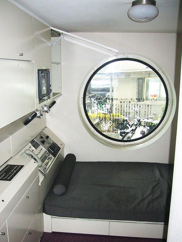 Nakagin Capsule Tower room