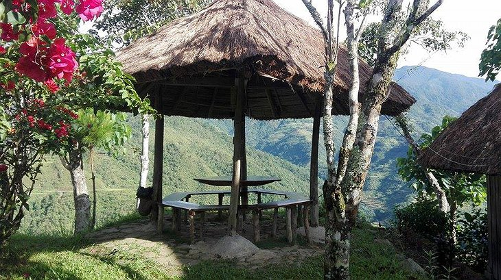 Native Village Inn Philippines terrace with breathtaking views