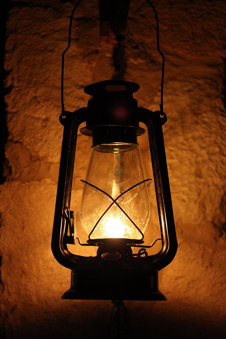 Gas lamp in the Sahara