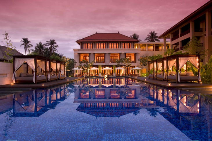 Conrad Bali main building at sunrise
