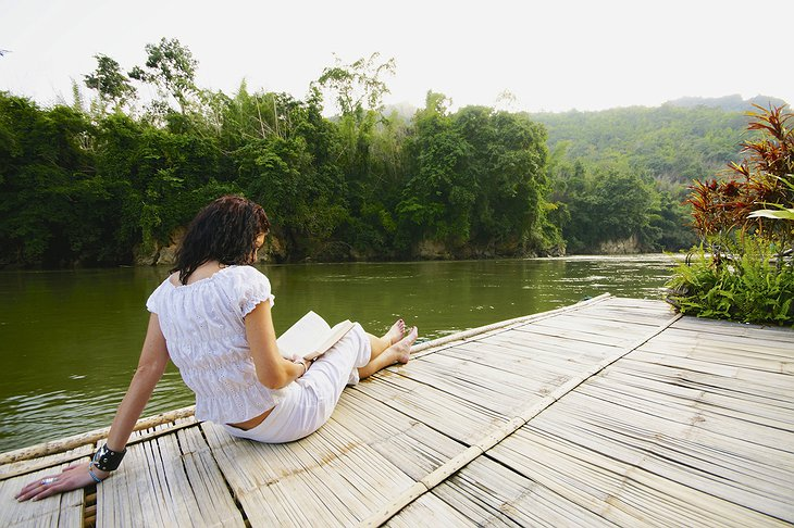 Chill out on the River Kwai Jungle rafts