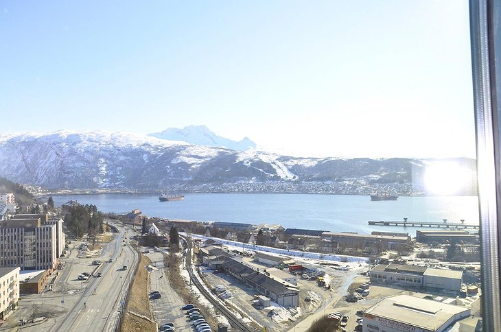 Mountain View from the Scandic Narvik Hotel