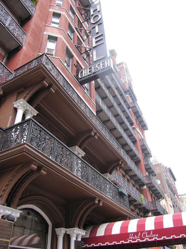 Hotel Chelsea facade and entrance
