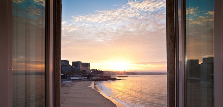 Cascais beach at sunset