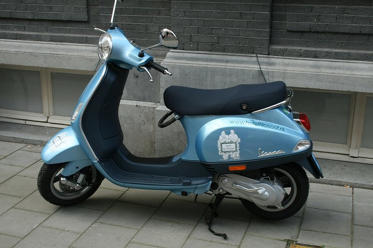 Vespa scooter for the hotel guests
