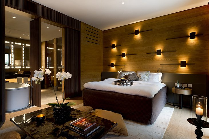 The Chedi Andermatt deluxe room
