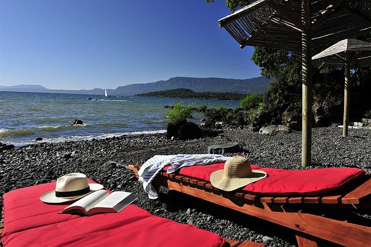 Pucon lake beach