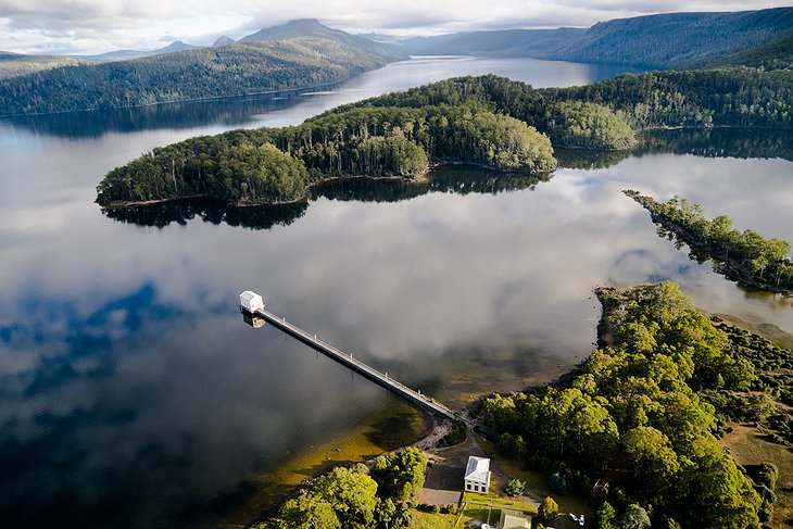 Pumphouse Point and Lake St Clair aerial