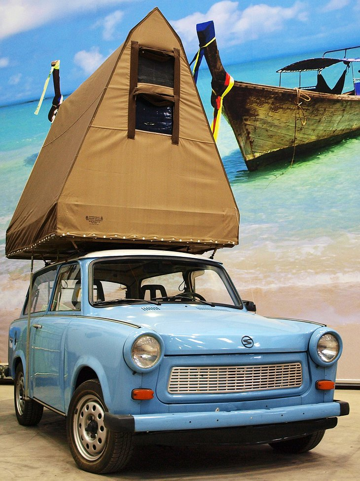 Trabant with a tent on top