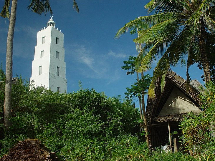 Chumbe Island bungalow and light house