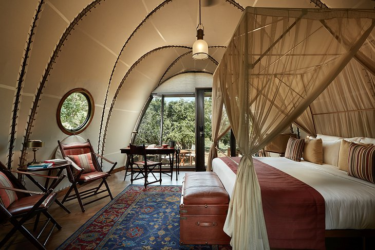 Wild Coast Tented Lodge cocoon tent room
