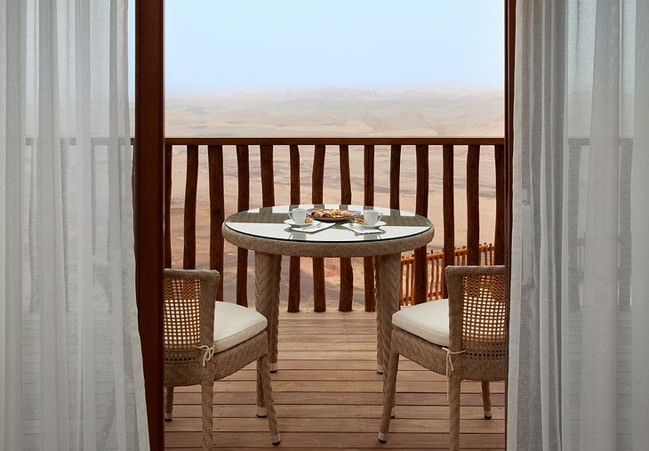 Beresheet Hotel balcony with Negev desert view