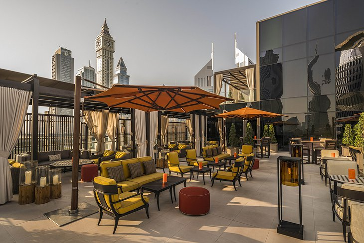 Four Seasons Dubai DIFC Luna Sky Bar rooftop terrace