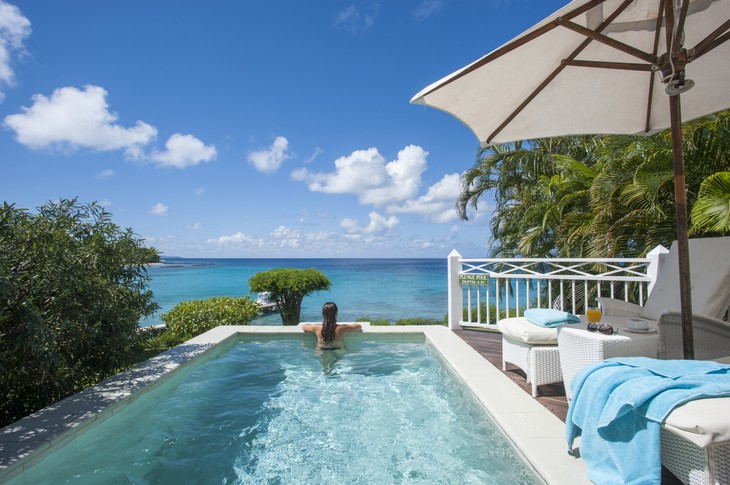 Mustique Island private pool with sea views