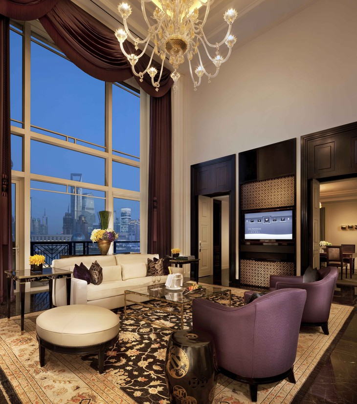 Majestic Suite Living Room in Dusk