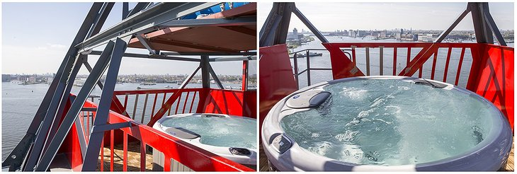 Jacuzzi on the top of Faralda Crane Hotel