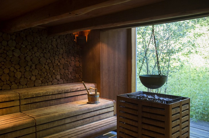 Lime Wood Hotel Herb House Spa sauna