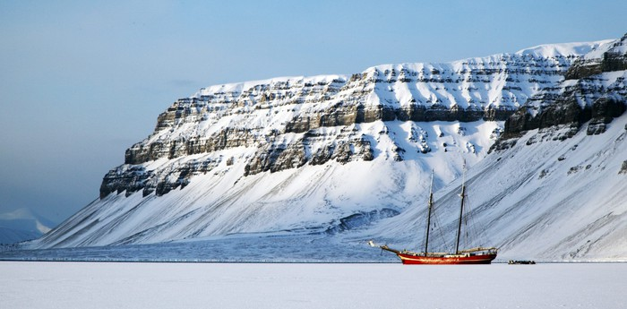 Spitsbergen Ship in the Ice