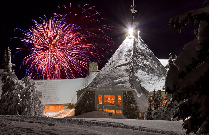 Timberline Lodge fireworks show