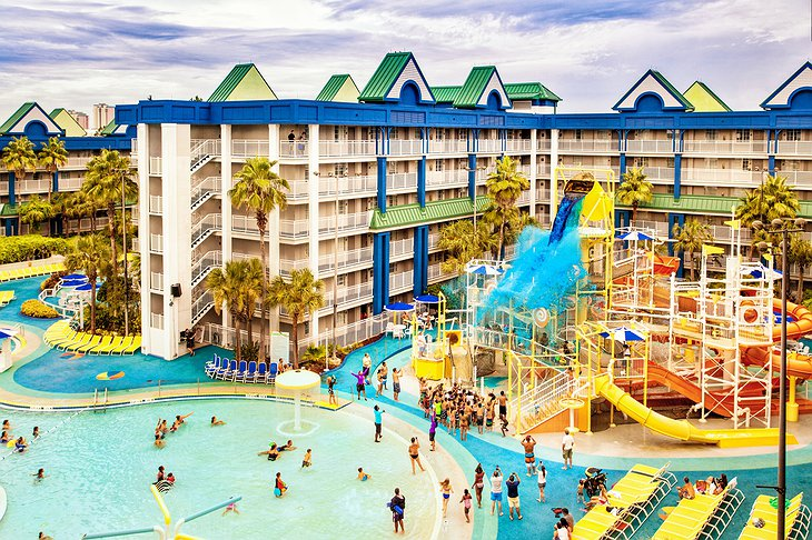Holiday Inn Resort Orlando Suites pools and slides