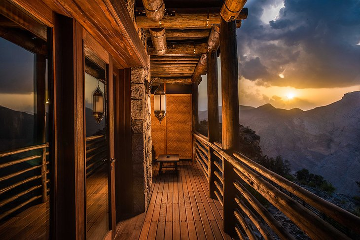 Alila Jabal Akhdar balcony with mountain views