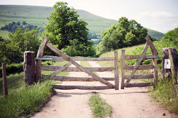 Black Mountains Yurts wooden gate