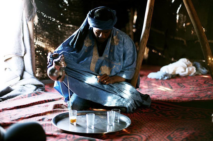 Traditional tea making in Marrakesh