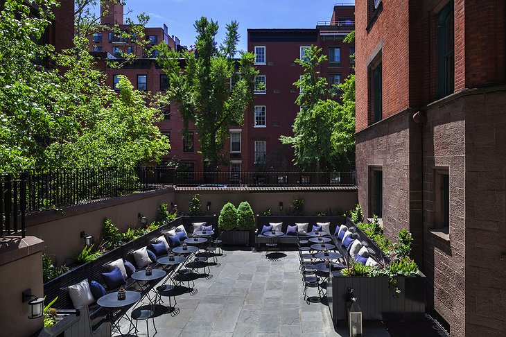 The High Line Hotel back patio