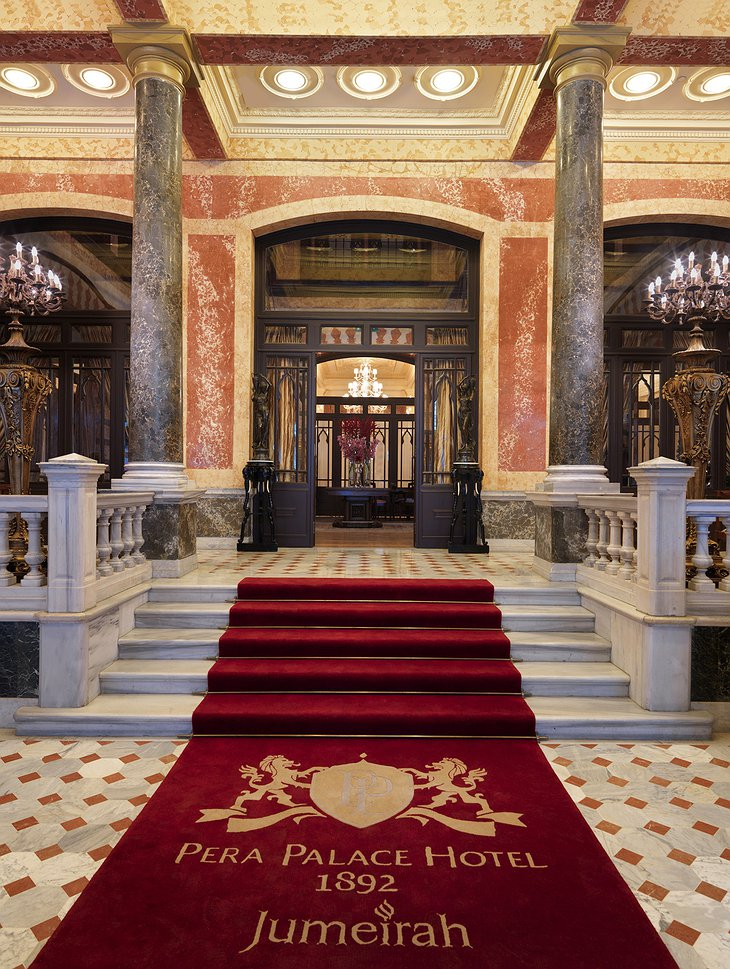 Pera Palace Hotel grand entrance