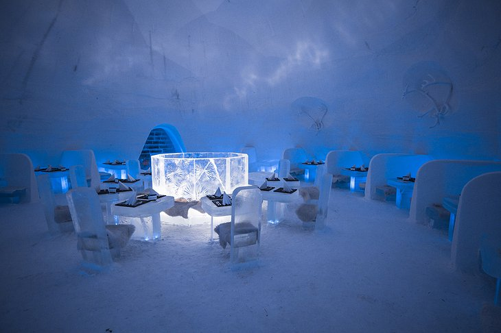 Lapland Hotels SnowVillage Dining Room
