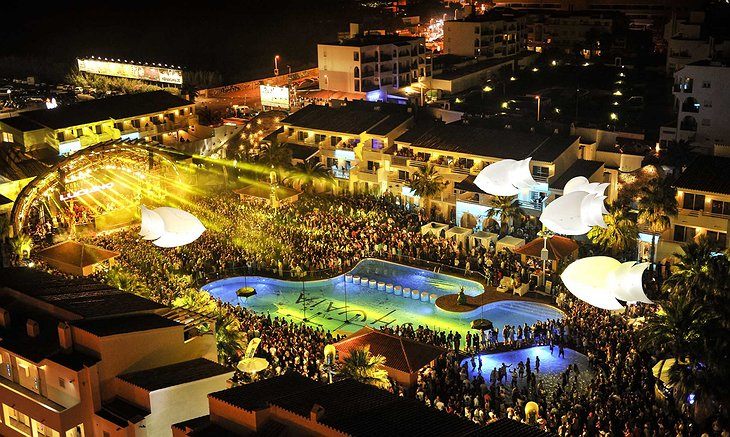 Ushuaia Ibiza Beach Hotel party panorama photo