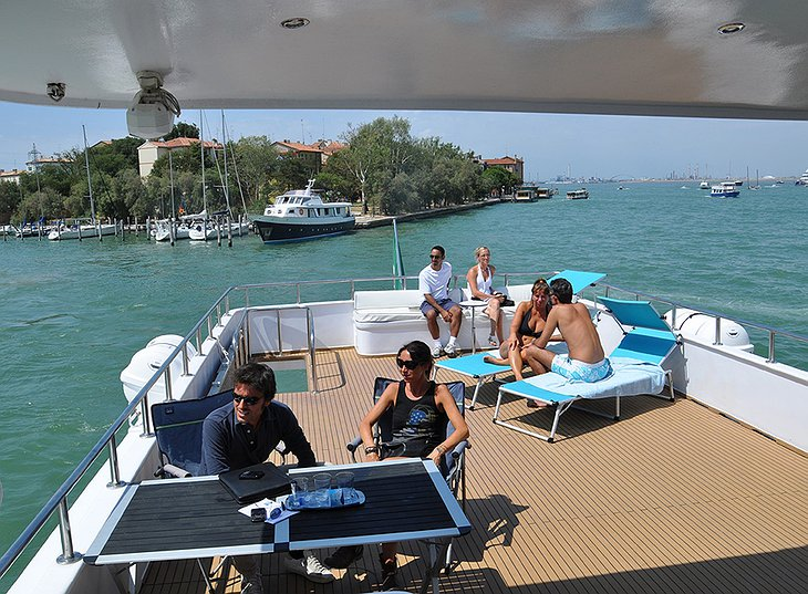 Sarah Cruise Venezia main deck with people
