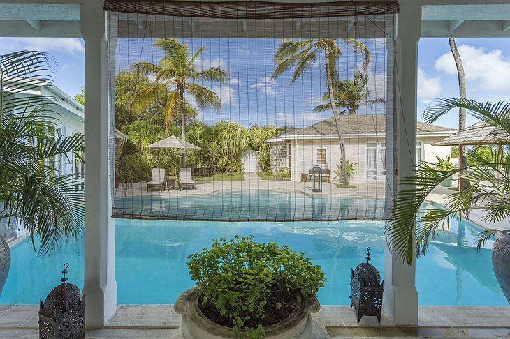 Mustique Island villa look on the pool