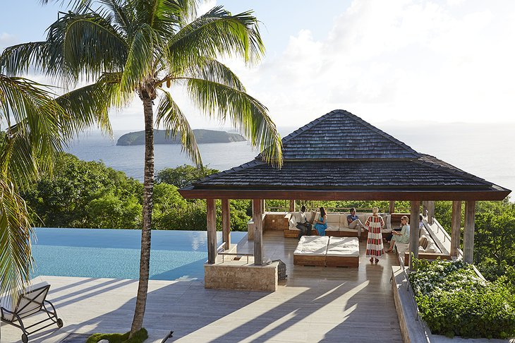 Mustique Island pool bar