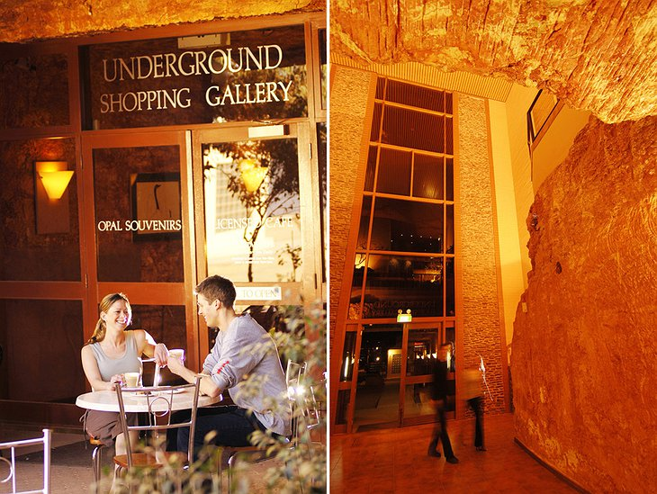 Underground Shopping Gallery in Desert Cave Hotel