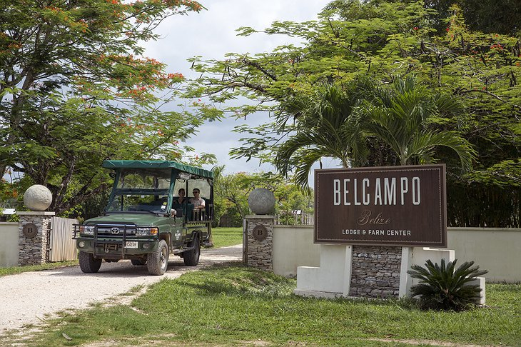 Belcampo Lodge sign