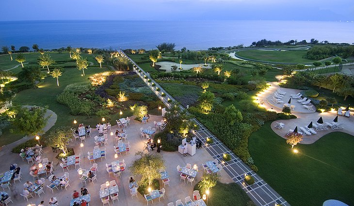 Hotel Marmara Antalya garden from above