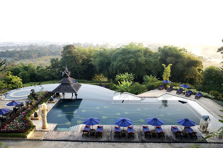 Anantara Golden Triangle swimming pool