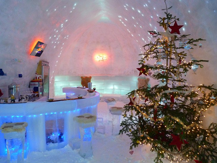 Ice Hotel Romania Christmas ice bar