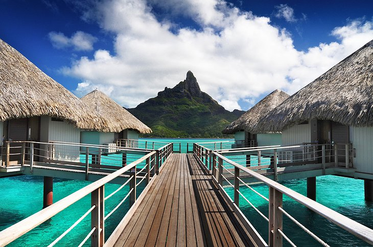 Le Méridien Bora Bora over water bungalows