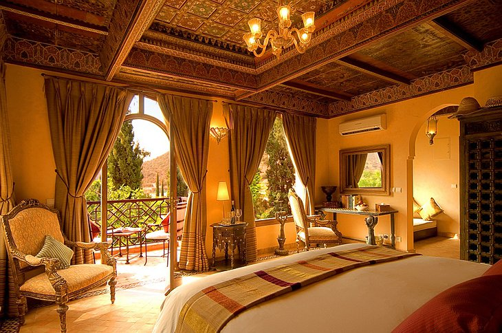 Kasbah Tamadot room with terrace