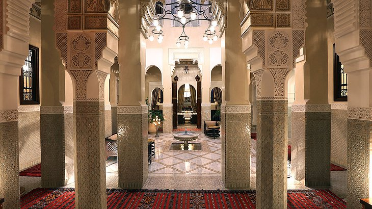 3 bed riad hallway at the Royal Mansour Marrakech