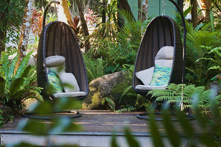 Daintree Eco Lodge relaxing egg chairs