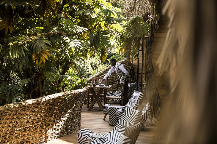 Bisate Lodge balcony sitting