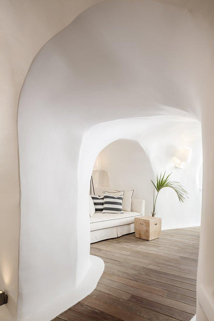 Kirini Santorini white fluid interior