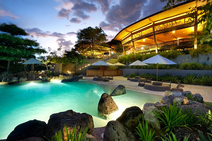 Andaz Peninsula Papagayo pool at night