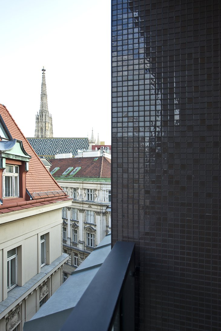 Hotel Topazz Vienna rooftop terrace views