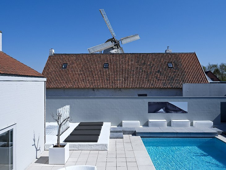 D-Hotel pool and the windmill
